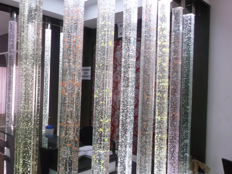 Glass Pillars Designer Glass Pillars Bubble Glass Pillar