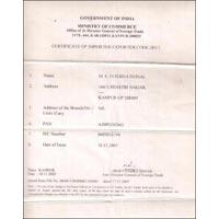 Certificate of Importer Exporter Code (IEC)
