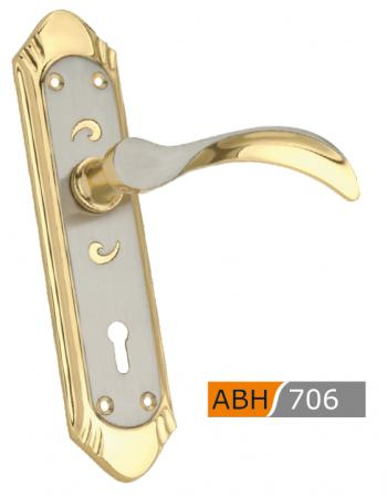 ABH Brass Mortice Door Handle