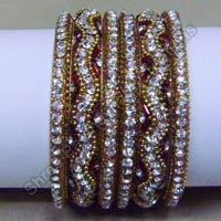 Fancy Stone Bangle Set