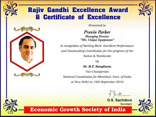 Rajiv Gandhin Award
