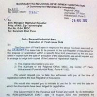 Certificates Maharashtra Industrial Development Corporation