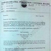 Certificates Of Maharashtra Pollution Control Board