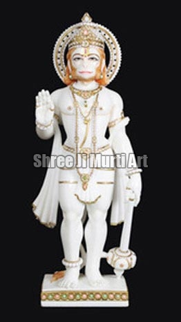 Marble Hanuman Statue White Marble Hanuman Statue Lord