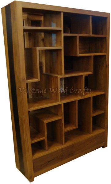 Wooden BookshelvesWooden Bookshelf with Orissa Work  : wooden bookshelf with mix match pattern 1013424 from www.vintagewoodcrafts.com size 362 x 600 jpeg 101kB