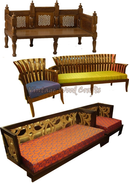 Wooden SofasWooden Contemporary SofaWooden French Sofa  : wooden indian style sofa 1013491 from www.vintagewoodcrafts.com size 424 x 600 jpeg 148kB