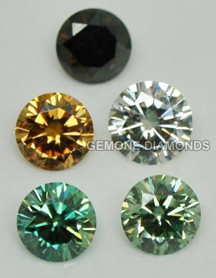 colored moissanite gemstones synthetic color moissanite