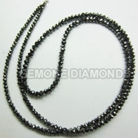 Natural Diamond Beads Necklace