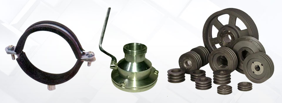 Rubber lined split clamps clamp