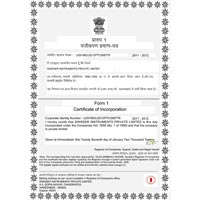 Certificate of Incorporation Swisser Instruments Private Limited
