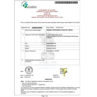 Vat Registration Certificate - 01