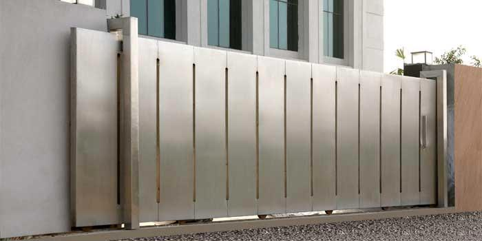 Stainless steel gates stainless steel driveway gate supplier for Sliding door for main door