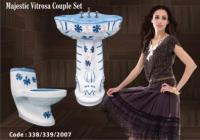 Wash Basin and Toilet Set