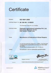 ISO Certified by TUV Germany 02
