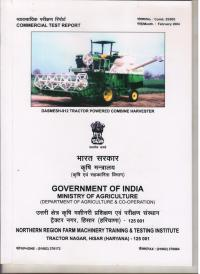 Test Report Tractor Driven  Combine Harvester (912)