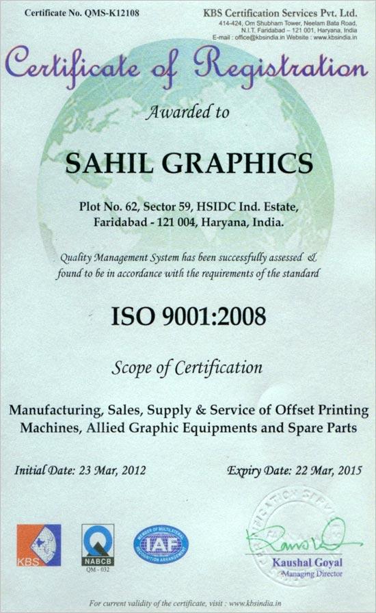 <big>ISO Certificate</big>