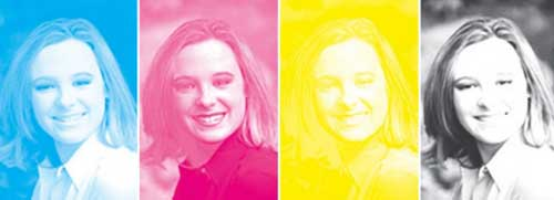 cyan magenta yellow and black cmyk inks when printed separately during offset print production these are printed on top of one another - Colour Pictures To Print