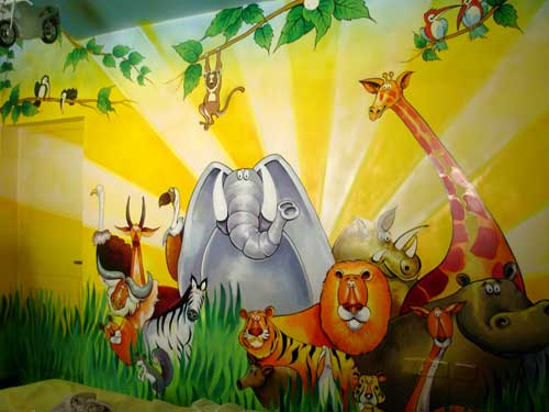 Wall Painting For Kids Room Interiors Design