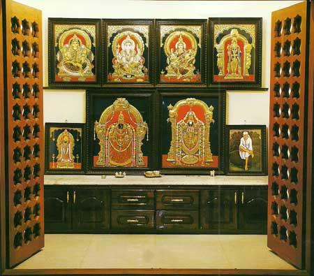 Modular Pooja Room,Modular Pooja Room Cabinet,Wooden Pooja Room ...