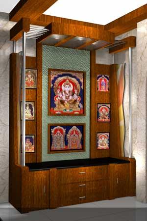 Woodwork pooja room