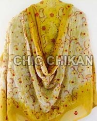 Chikan Embroidered Unstitched Suit