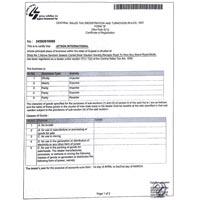 Sals Tax Certificate