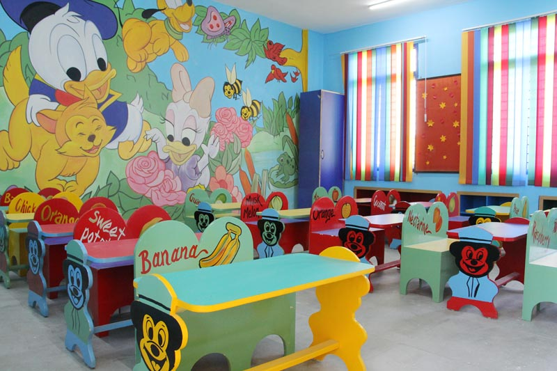 Kids Classroom Activity In Hopper Playway Projects