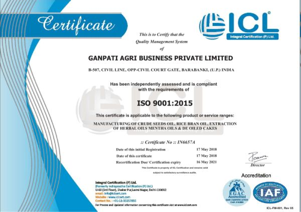 ISO 9001:2015 – Qualiy Management system