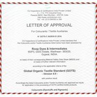 Gots Certificate 01