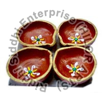 Decorative Rangoli Diya 05