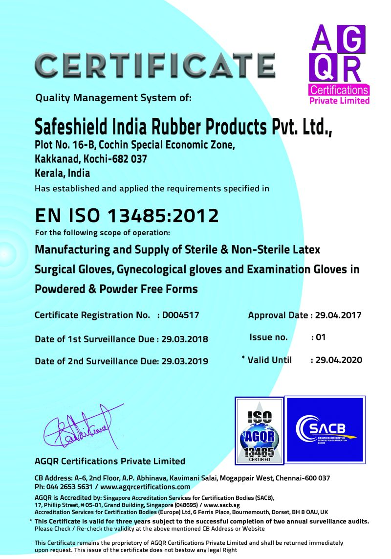 ISO 13485 : 2012 Certificate