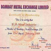 Bombay Metal Exchange Member Since - 1989
