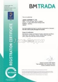 ISO Certificate 9001 : 2008