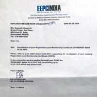 EEPC India Certificate
