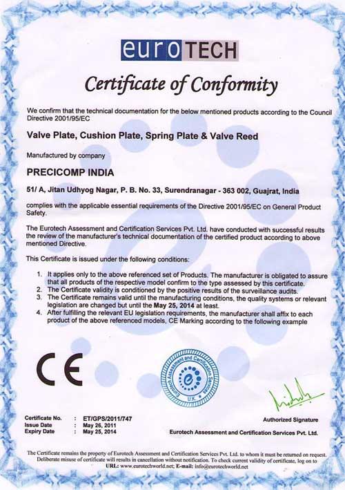 C.E.Certificate
