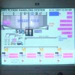 SCADA screen for fly ash project