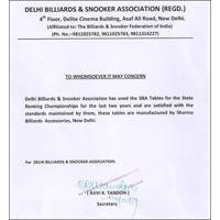 Certificate of DBSA