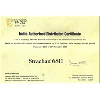 Indian Authorised Distributor Certificate