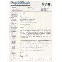 PBSA Certificate
