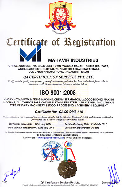 ISO Certificate 2008