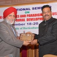 Sandeep Goel Takeing Outstanding Agro Industry Award Bu Dr. Hansra
