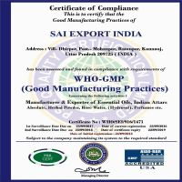 Sai Export India  WHO-GMP
