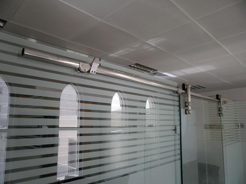 Automatic frameless sliding glass doors for Electric sliding glass doors