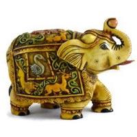 Handmade Hand Painted Elephant Resin Figurine Sculpture