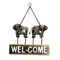 Iron/Wooden Elephant Welcome Wall Decor Home Decor