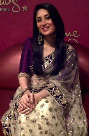 Kareena in Off White Saree