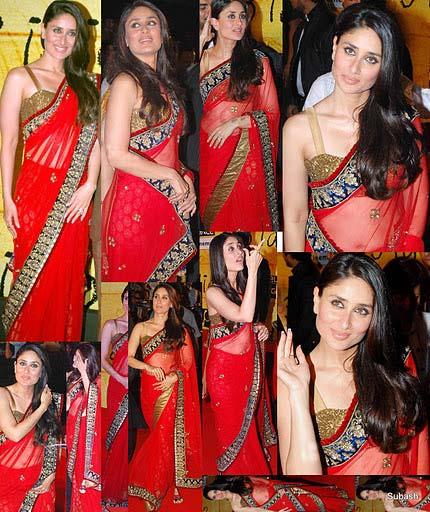 Kareena in Red Saree