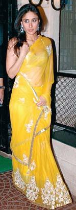 Kareena in Yellow Saree