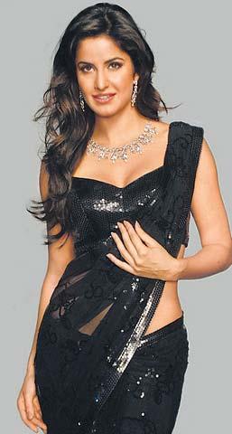 Katrina in Black Saree