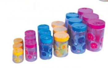 Flower Print PET Containers